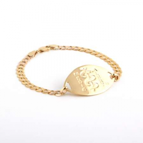 Gold Bracelet Small Disc Medicalert South Africa